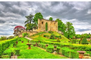 Ruins of the ancient keep at the Chateau de Langeais, France