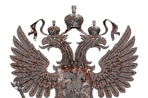 Rusty Coat of arms of Russia