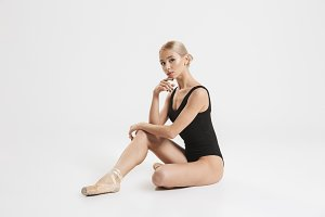 Portrait of an elegant young ballerina dancer