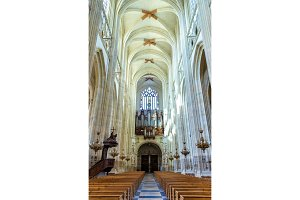 Interior of the Cathedral of St. Peter and St. Paul of Nantes - France