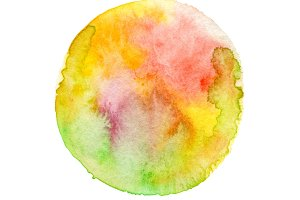 circle watercolor