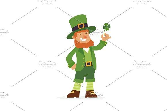 Saint Patrick Modern Vector Cartoon People Characters Illustration