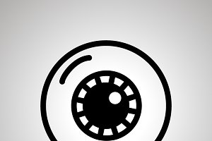 Simple black human eye icon