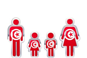 People icon with Tunisia flag