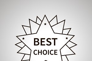 Best choice badge simple black icon