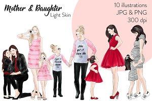 Mother & Daughter - Light Skin