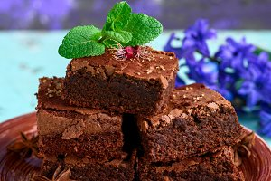 pieces of chocolate brownie