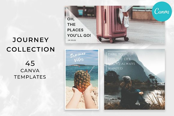 JOURNEY Collection - Canva Templates