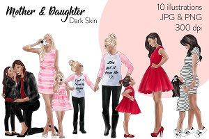 Mother & Daughter - Dark Skin