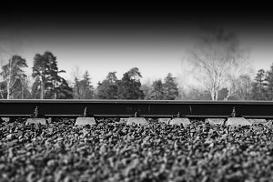 Dramatic railway transportation track background