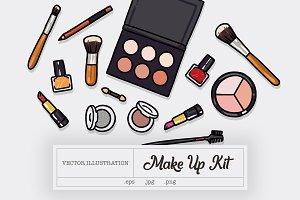Make Up Kit Illustration