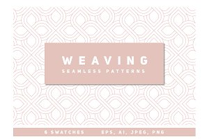 Weaving Seamless Patterns Set