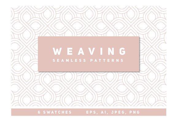 Weaving Seamless Patterns Set