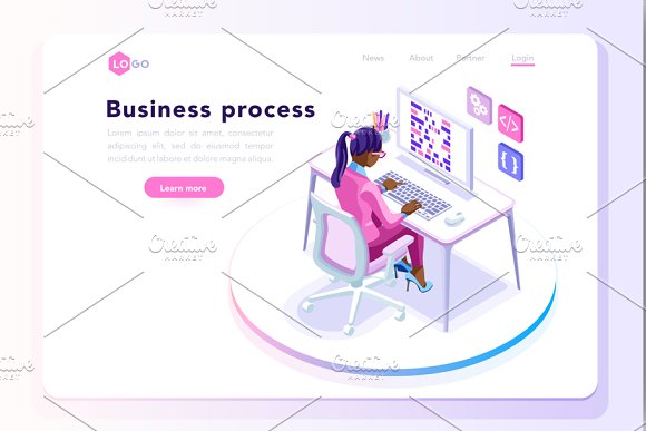 Office Concept For Web Site Banner