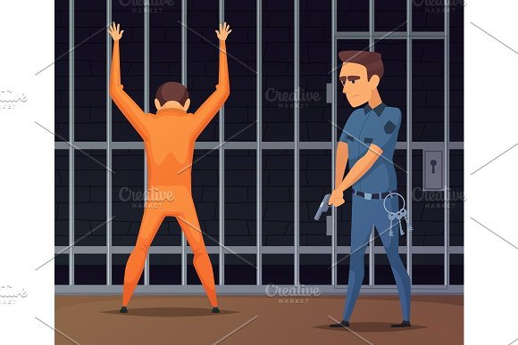 Prisoners On Inspection Near The Camera