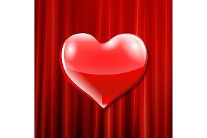 vector red heart celebration