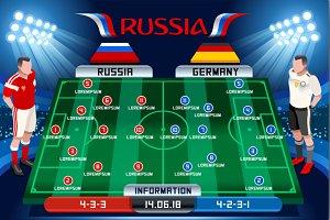 Soccer tactics board vector