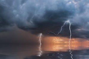 Thunderstorm with rain