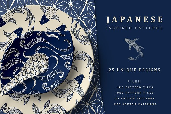 Patterns: Youandigraphics - Hand Drawn Japanese Patterns