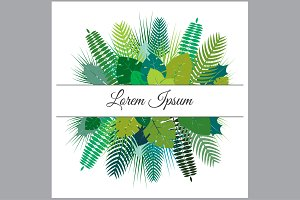 Trendy Summer Tropical Leaves Vector