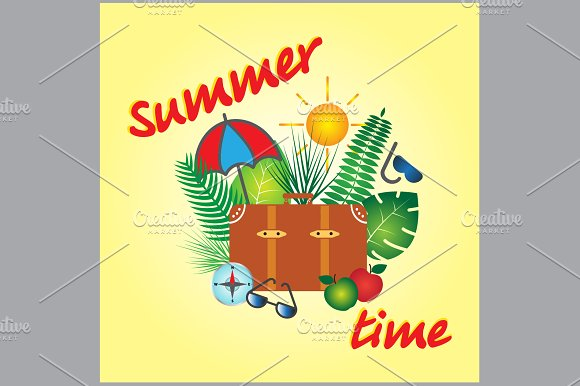 Summer time vector banner design  in Graphics