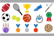 sport icon (sign, symbol) set vector