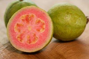 Ripe, pink guava