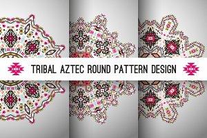 Decorative Round Aztec Pattern