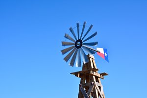 Windmill on an agricultural farm