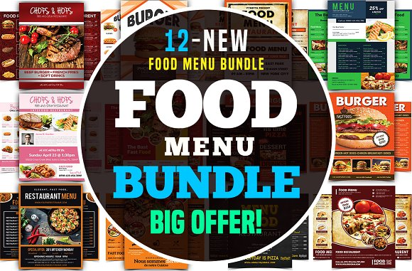 Food Menu Flyer Bundle
