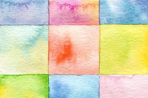 square watercolor paint