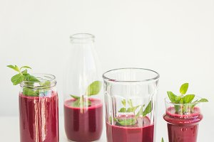 Fresh beetroot smoothie or juice
