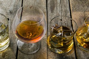 Different types of strong alcohol