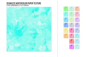 Seamless Watercolor Backgrounds.