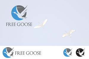Duck Goose Geese Flying Logo
