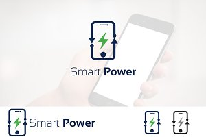 Electricity Power of Smartphone Logo