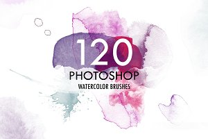 120 Watercolor PS Brushes