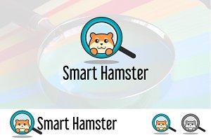 Find Cute Smart Hamster Logo