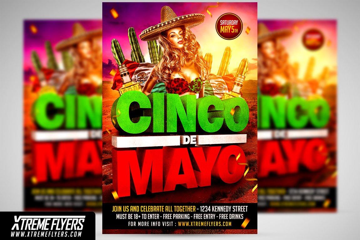 cinco de mayo flyer flyer templates creative market