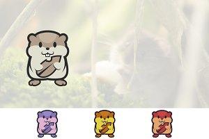 Hamster Pet Cute and Funny Cartoon
