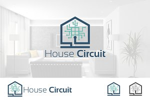 House of Computer Circuit Logo
