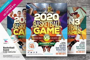 Basketball Event Flyer Templates