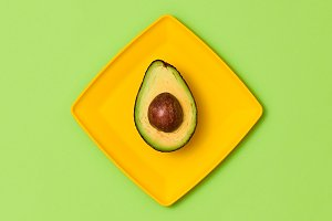 Avocado Tropical Fruit. Vegan Food