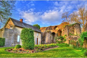 Chateau de Bressuire, a ruined castle in France
