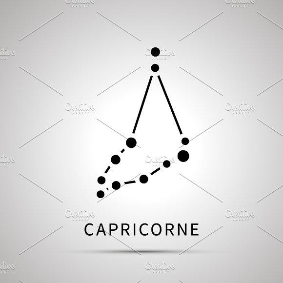 Capricorne Constellation Simple Icon