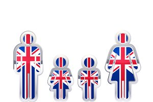 People icon with United Kingdom flag