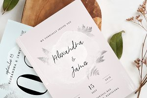 Watercolor Sprigs Wedding Suite