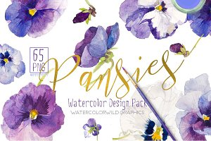 Pansies-Design pack