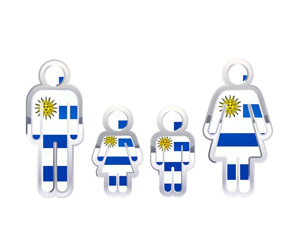 People Icon With Uruguay Flag