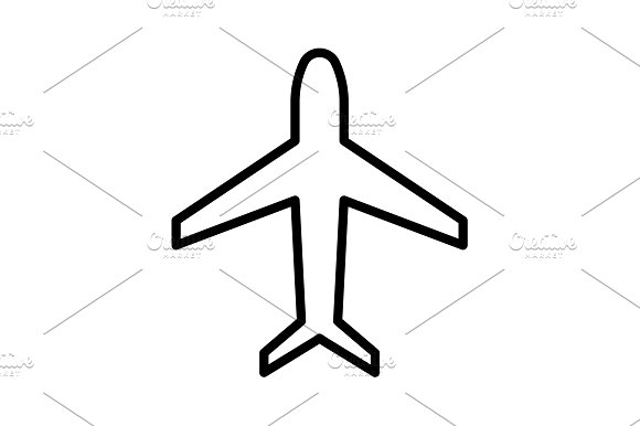 Plane line icon. vector illustration